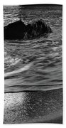 Waves From The Cave In Monochrome Bath Towel