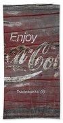 Weathered Coca Cola Sign Hand Towel