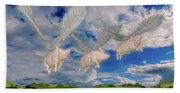 When Pigs Fly Bath Towel