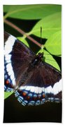White Admiral Butterfly Bath Towel