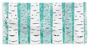 White Birch And Snow Hand Towel