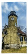 White River Lighthouse Bath Towel