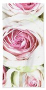 Wild Pink Roses Hand Towel