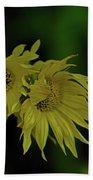 Wild Sunflowers In The Wind Bath Towel