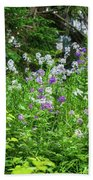 Wildflowers On Green's Hills Bath Towel
