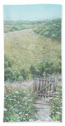 Winchester Hill Area In Hampshire During Summer Bath Towel by Martin Davey