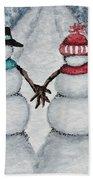 Winter Stroll Hand Towel