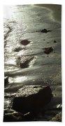 Winter Sun On The Tide Bath Towel