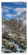 Winter Wonderland Snowdonia Bath Towel by Adrian Evans