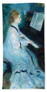 Woman At The Piano Hand Towel