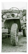 World War II Era Us Army Jeep Bath Towel