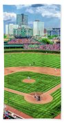 Wrigley Field Chicago Cubs Bath Towel by Christopher Arndt