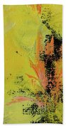 Yellow Blooms Coral Accents Hand Towel