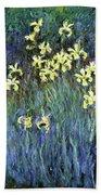 Yellow Irises - Digital Remastered Edition Hand Towel