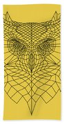 Yellow Owl Bath Towel