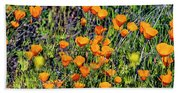 Yellow Poppies Of California Bath Towel