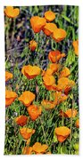 Yellow Poppies Of California Hand Towel