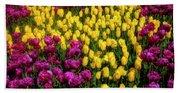 Yellow Star Tulips Bath Towel