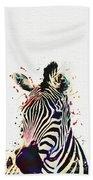 Zebra Watercolor Painting Bath Towel