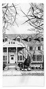 Zeta Tau Alpha Sorority House, Purdue University, West Lafayette, Indiana, Fine Art Print Bath Towel