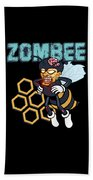 Zombee Zombie Bee Halloween For Beekeeper Apiarist Dark Light Bath Towel