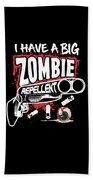 Zombie Repellent Halloween Funny Gun Art Dark Bath Towel