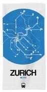 Zurich Blue Subway Map Hand Towel