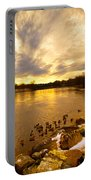 Androscoggin River Between Lewiston And Auburn Portable Battery Charger