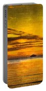 Autumn Sunset Over Ailsa Craig Portable Battery Charger