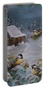 Black Capped   Chickadee's  Portable Battery Charger