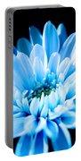 Blue Chrysanthemum Portable Battery Charger
