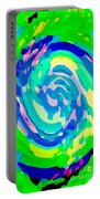 Bold And Colorful Phone Case Artwork Lovely Abstracts Carole Spandau Cbs Art Exclusives 134  Portable Battery Charger by Carole Spandau