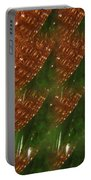 Brilliant Green Abstract 2 Portable Battery Charger
