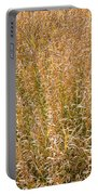 Brown Grass Texture Portable Battery Charger