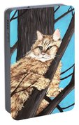 Cat On A Tree Portable Battery Charger