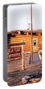 Chamber Of Commerce Log Cabin Fairbanks Alaska 1969 Portable Battery Charger