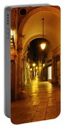 Clock Tower Venice Italy And The Path To Merceria Portable Battery Charger