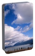 Clouds Over Lake Quinault Portable Battery Charger