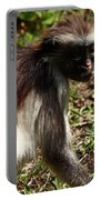 Colobus Monkey Portable Battery Charger by Aidan Moran
