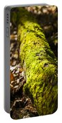 Dead Log With Moss Portable Battery Charger