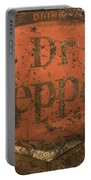 Dr Pepper Vintage Sign Portable Battery Charger by Bob Christopher