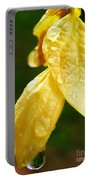 Drop On Yellow Flower Portable Battery Charger