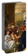 English Bulldog Art Canvas Print - The Garden Party Portable Battery Charger