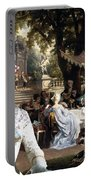 English Mastiff  - Mastiff Art Canvas Print - The Garden Party Portable Battery Charger