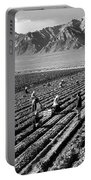 Farm Workers And Mount Williamson Portable Battery Charger