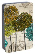 Floral Delight I Portable Battery Charger