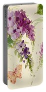 Flowering Butterfly Bush Portable Battery Charger