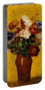 Flowers Portable Battery Charger by Odilon Redon