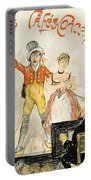 France Paris Poster Of Stage Performance At Cafe Chantant Portable Battery Charger