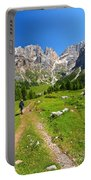 Hiking In Contrin Valley Portable Battery Charger